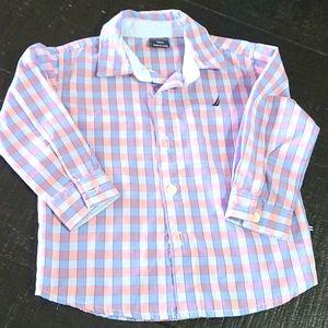 NWOT Nautica dress shirt. Size 18M